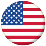 USA Country Flag 25mm Flat Back